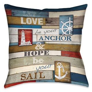 Laural Home Nautical Words 18-inch Decorative Pillow