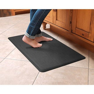 Designer Comfort Grasscloth Anti-fatigue Floor Mat (18 x 30 inches)