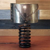 Coil Table Lamp with Silver Shade