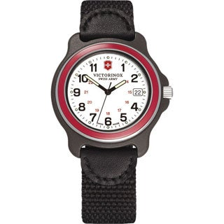 Victorinox Swiss Army Original 249088 Men's Red Bazel Black Nylon Strap Watch