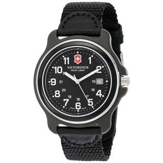 Victorinox Swiss Army Men's Black Nylon Original XL 249087 Swiss Quartz Analog Watch