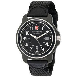 Victorinox Swiss Army Men's Black Nylon Original XL 249087 Swiss Quartz Analog Watch|https://ak1.ostkcdn.com/images/products/P21291658a.jpg?impolicy=medium
