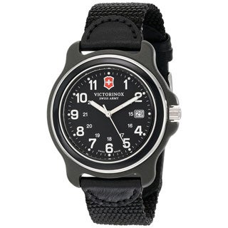 Victorinox Swiss Army Men's Black Nylon Original XL Swiss Quartz Analog Watch