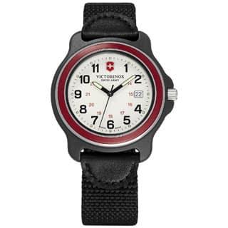 Quick View. $127.99. Victorinox Swiss Army Original XL 249085 Men's Red Bazel Black Nylon Strap Watch