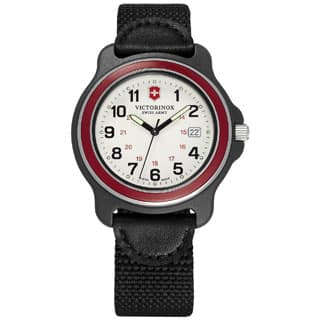 Victorinox Swiss Army Original XL 249085 Men's Red Bazel Black Nylon Strap Watch