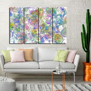 Ready2HangArt Indoor/Outdoor 4 Piece Wall Art Set (32 x 48) 'Color Clusters II' in ArtPlexi by NXN Designs - Multi-color