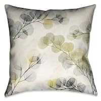 Laural Home Smoky Eucalyptus Fronds Decorative Pillow 18-inch