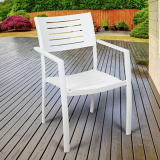 Atlantic John 4 Piece Patio Dining Chairs, White