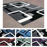 Modern Geomtric-patterned Area Rug - 8' x 10'