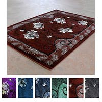 Casual Floral Super Soft Area Rug (8'x10') - 8' x 10'
