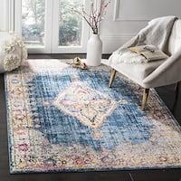 Safavieh Bristol Bohemian Blue/ Ivory Polyester Area Rug - 8' x 10'