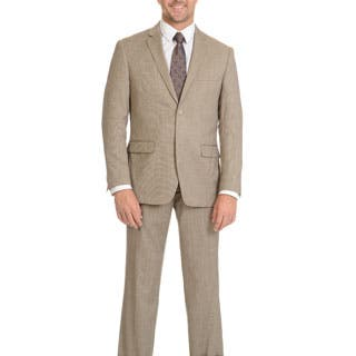 Prontomoda Men's Super 140's Merino Tan Slim Suit https://ak1.ostkcdn.com/images/products/P21733357m.jpg?impolicy=medium