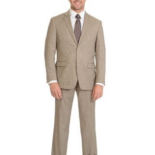 Prontomoda Men's Super 140's Merino Tan Slim Suit