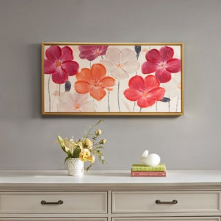 Madison Park Ivo Stoyanov 'Floral Fields' Multi Hand Embellishment Canvas Art