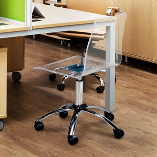 Furniture of America Mamel Contemporary Clear Adjustable Task/Office Chair