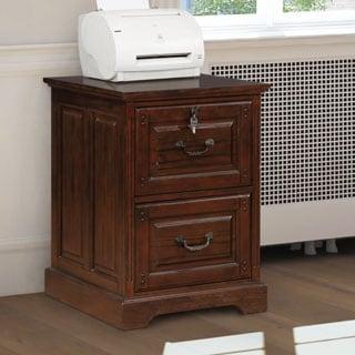 Furniture Of America Devon Traditional 2 Drawer Dark Walnut File Cabinet
