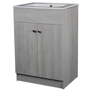 24-inch Sink-top Single-sink Ceramic Whitewash Finish Bathroom Vanity