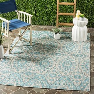 Martha Stewart by Safavieh Tulip Medallion / Grey / Blue Area Rug (5'3 x 7'7)