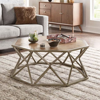 Owen Grey and Brown Octagonal Coffee Table iNSPIRE Q Modern