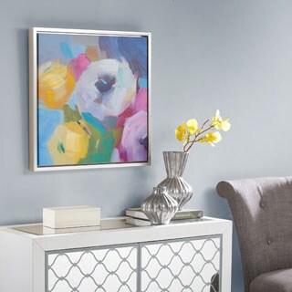 Madison Park Nosegay Bouquet Multi Framed Hand Embellished Canvas