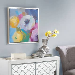 Madison Park Nosegay Bouquet Multi Framed Hand Embellished Canvas