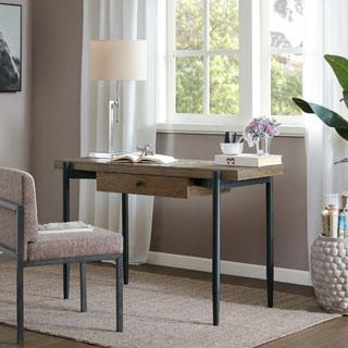 Madison Park Packer Natural Multi/ Black Writing Desk