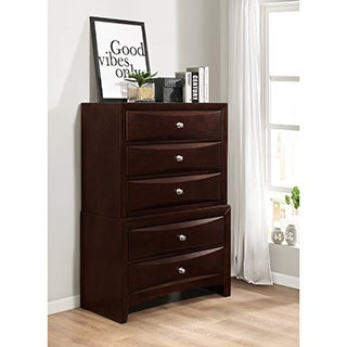 Ankara Brown Wood 5-drawer Chest