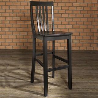 Crosley Furniture School House Black 30-inch High Bar Stool (Set of 2)