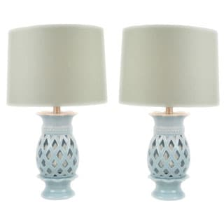 JT Lighting Solaria Ceramic 24-inch High Table Lamps (Set of 2)