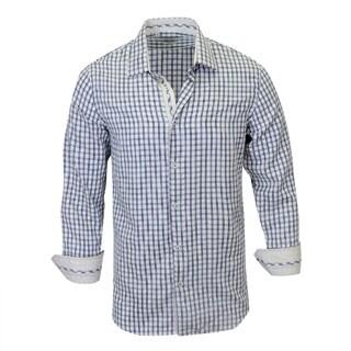 Monza Checked Pattern Modern-Fit Dress Shirt