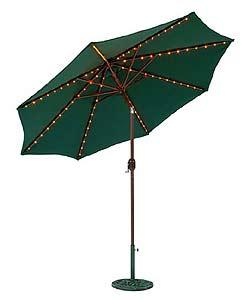 Aluminum 9-ft. Lighted Umbrella (2 colors) - Thumbnail 0