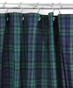 Walker Navy Plaid Shower Curtain Free Shipping On Orders Over