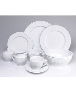 Coventry Parthenon 45-pc. Porcelain Dinnerware Set  sc 1 st  Overstock & Shop Coventry Parthenon 45-pc. Porcelain Dinnerware Set - Free ...
