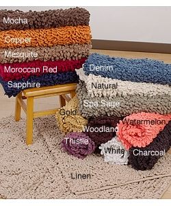 Shop Luxurious Loop Chenille Bath Rugs Set Of 2 Free Shipping On