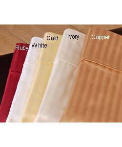Sateen 600 Thread Count Stripe Sheet Set (King) - Thumbnail 0