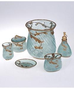 Mayuri bath accessories set by croscill aqua free for Aqua bath accessories