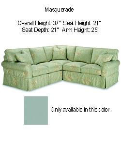 Thumbnail 1, Astoria Sea Foam Green Sectional Sofa.