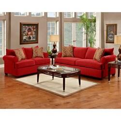 Strange Portland Cranberry Sofa And Loveseat Set Overstock Com Shopping The Best Deals On Loveseats Forskolin Free Trial Chair Design Images Forskolin Free Trialorg