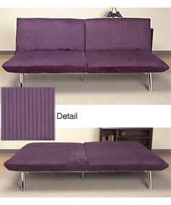 Pleasing Modena Eggplant Corduroy Sofa Bed Overstock Com Shopping The Best Deals On Sofas Couches Gmtry Best Dining Table And Chair Ideas Images Gmtryco