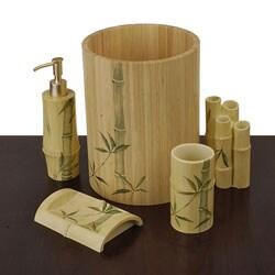 Shop Bonsai Bamboo Bath Accessory Set - Overstock - 1854571