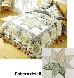 Millenium Star Cotton Patchwork Quilt Set (King and Twin) - Thumbnail 0