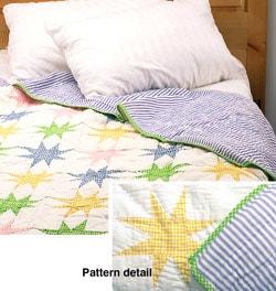 Hampton Handmade Cotton Quilt Set (Twin Only) - Thumbnail 0