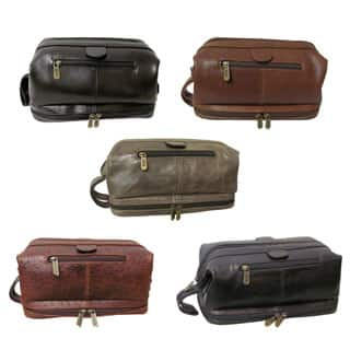 Amerileather Men's Leather Toiletry Bag|https://ak1.ostkcdn.com/images/products/P915559m.jpg?impolicy=medium