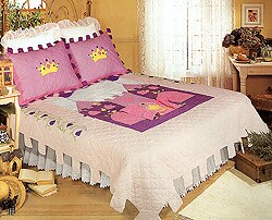 Lil Princess Cotton Patchwork Quilt Set (Twin) - Thumbnail 0