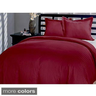 Damask Stripe 230 Thread Count 3-piece Duvet Cover Set