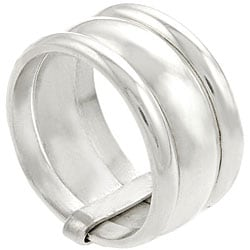 Journee Collection Sterling Silver Three-band Ring