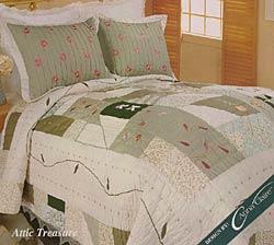 Attic Treasure Cotton Patchwork Quilt Set - Thumbnail 0