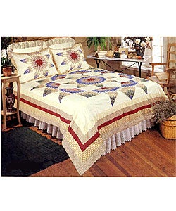 Country Star Patchwork Duvet Cover Set - Thumbnail 0
