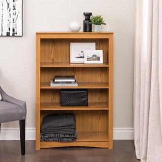 Prepac Brown Wood 4-shelf Bookcase