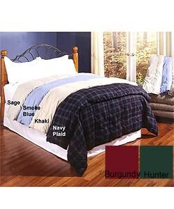 Microfiber Down Comforter w/Bonus Throw - Thumbnail 0